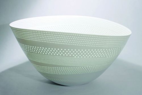 "Niisato Akio: Luminous Vessel, 2008, Glazed porcelain, 17"" x 16"" x 9"" / Keiko Gallery - Japanese artists"