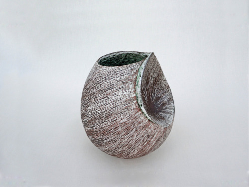 "Tanoue Shinya: KARA-10-8, 2010, Glazed clay, 7 1/2"" x 7"" x 12""(h) / Keiko Gallery - Japanese artists"
