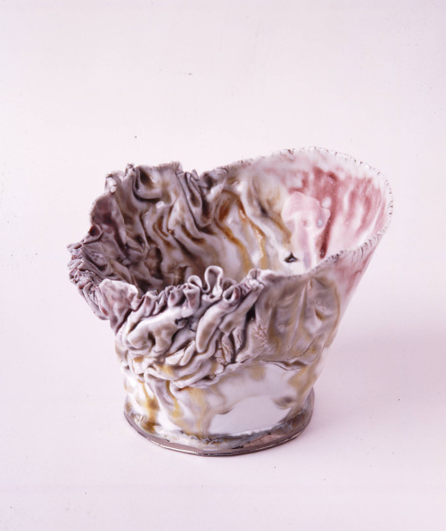 "Kawabata Kentaro: Bowl, 2011, Glazed clay, glass, silver, 5"" x 5 1/4"" x 5"" / Keiko Gallery - Japanese artists"