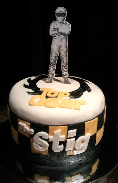 "top gears ""the stig"" cake"