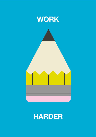oliphillips:  Work Harder Art Print Available on Society6 here