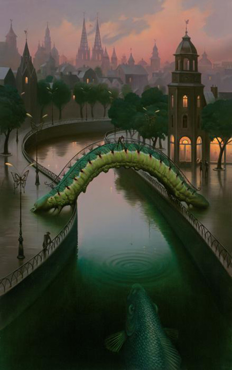 Fish in the City by Vladimir Kush