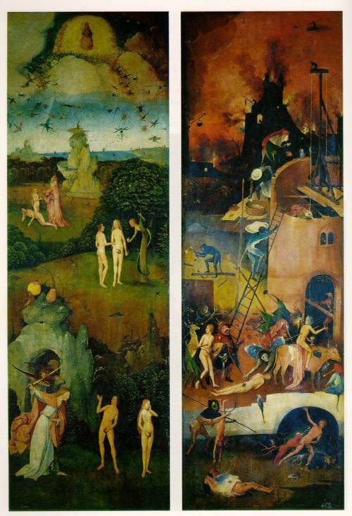 Hieronymous Bosch - Paradise and Hell - 1510