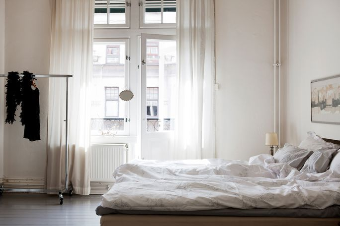 I want to sleep here. fromscandinaviawithlove:  A home in Malmö, Sweden. Photo from the real estate agency Bolaget.