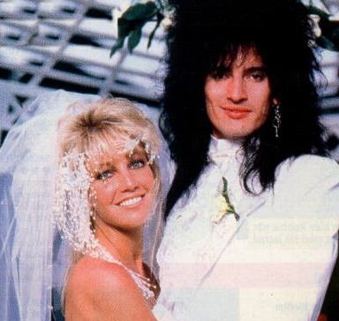 Heather Locklear and Tommy Lee. (photographer unknown)