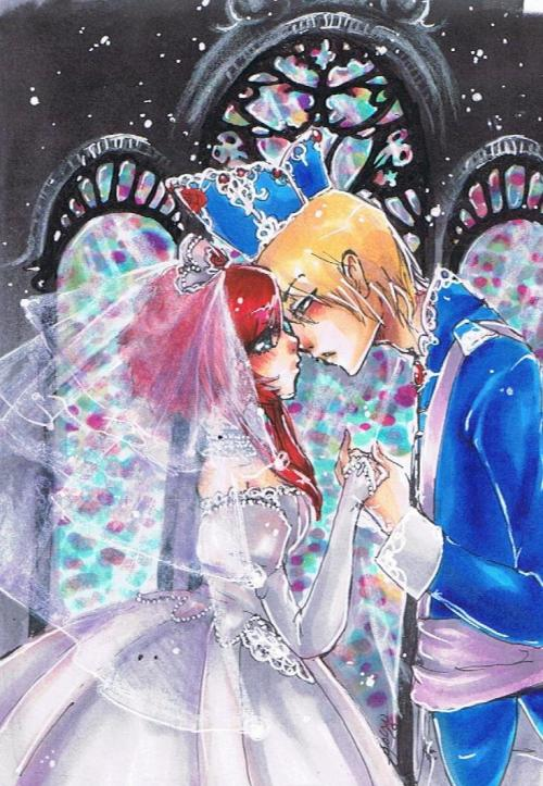 Esther and Ion. Trinity Blood. I WANT THEM TO HAVE A WEDDING FOR REALS. BAWWWWWWW