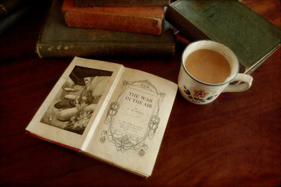 rain-and-photographs:  Tea and Books I by Child of Danu on Flickr.