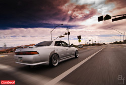 Local buddy, Ben Kunk, with his old RHD Toyota Mark II that Adrian shot for Canibeat a while back
