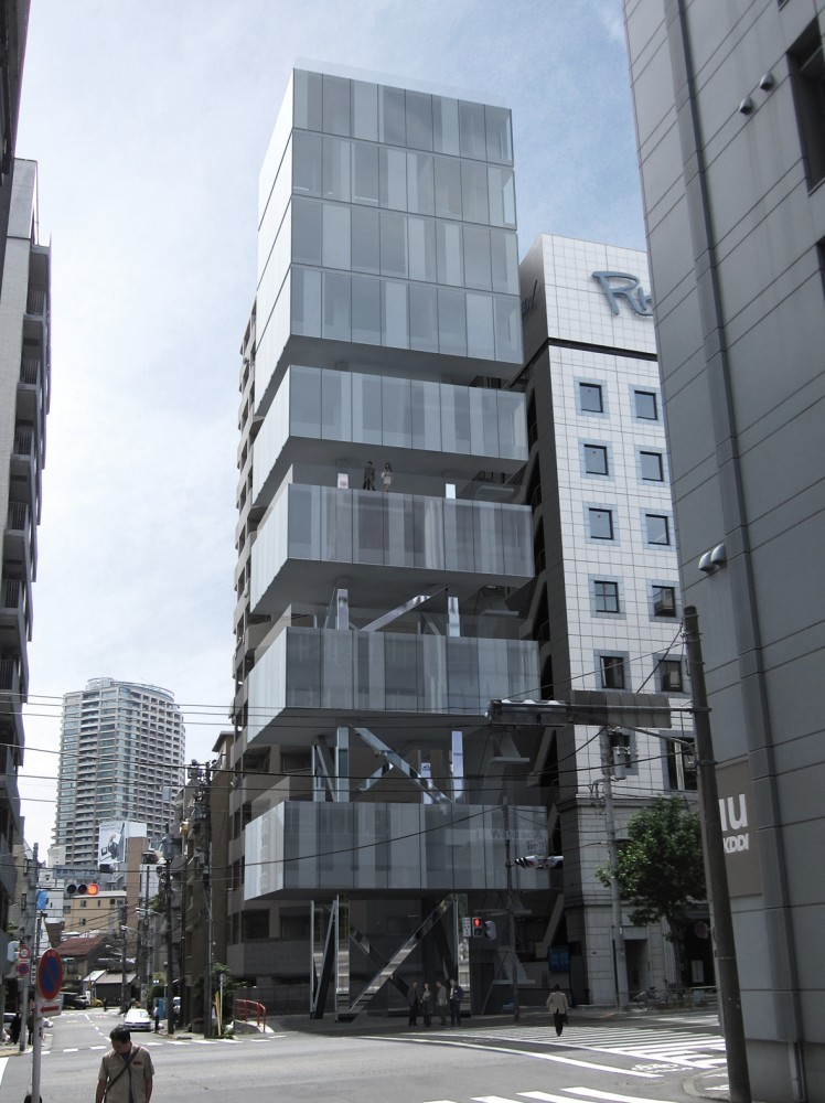HA tower, Higashi-Azabu - Japan by Frontoffice + François Blanciak Architect