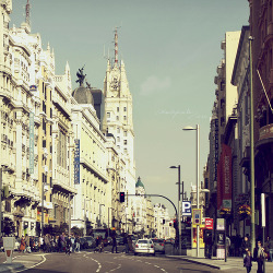 allthingseurope:  Calle Gran Via-Madrid, Spain  I miss you Madrid!