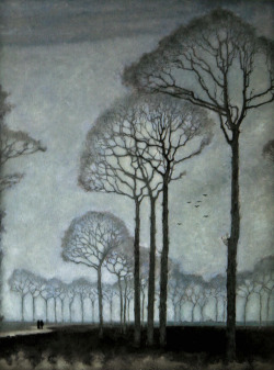 purplebloom:  Mankes, Jan (Dutch, 1889-1920) - Row of Trees - 1915
