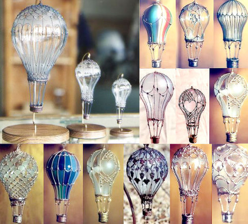 genius-idea:  Upcycle old light bulbs into little flights of fancy. Via: Trashy Wench.