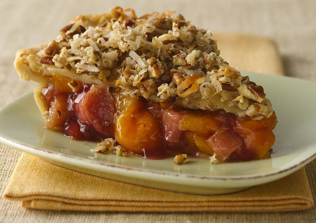 Peach Rhubarb Pie Recipe by Pillsbury.com on Flickr.