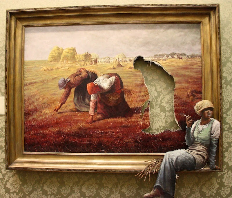 danceabletragedy:  Guerrilla Art, Banksy  Cool:)