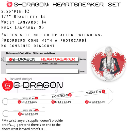 kpop-in-the-sky:   CLICK HERE FOR MORE INFO/PREORDER G-Dragon merch! Please do not send in your payment until further notice. PLEASE REBLOG TO SPREAD THE WORD? With an apple on top? (✿◠‿◠)  26 28/40!