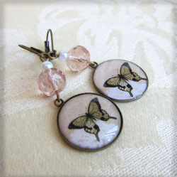 Butterfly Earrings at JEWELSALEM: http://www.etsy.com/shop/Jewelsalem?ref=si_shop