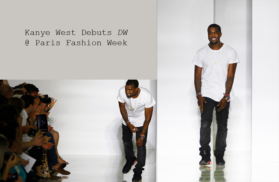 "Kanye West Debuts DW @ Paris Fashion Week The Wu-Tang Clan may have been one of the first hip hip brands to dabble in the fashion industry, but in today's day and age we take for granted the phenomenon of the celebrity (rapper, actor, singer) turned fashion designer. It's the prevalence of the celebrity world's Rocawears, Sean Johns, and Jennifer Lopez x Macy's collaborations that make it difficult for anybody who made their millions and earned their acclamations in any field other than fashion to crossover into the industry. But in every sense, Kanye West's involvement in fashion seems radically different than the way we traditionally are used to seeing celebrities approach the fashion industry. From the start of his career, Kanye has always been an individual whose sartorial inclinations were instrumental in defining his public image. He helped turned hip hop away from baggy jerseys and ill-fitted velour track suits. With his last two albums he's invented a new sub-genre of hip hop, luxury rap. And of late his favorite rhyming topics have been as much Phoebe Philo and Maison Margiela as anything else. It was within the context of this well-known, decade-long love obsession with fashion that Kanye West debuted his first collection at Paris Fashion Week, this past Saturday. The unique thing about Kanye West's fashion debut is this: despite the fact that this is his first collection ever, he is still Kanye West. As a result, his debuted his collection at the Lycee Henri IV, an expensive looking Parisian secondary school. And in attendance were Anna Wintour, Terry Richardson, Silvia and Delfina Fendi, Jeremy Scott, and other important sounding fashion heavyweights you may or may not have heard of. All this, despite the fact, that he wasn't even on the official PFW schedule. So how did he do? His Collection Unsurprisingly, different parts of West's debut collection are reminiscent of past shows by Alexander Wang, Rick Owens, and Celine. The first thing apparent in West's collection is the high level of workmanship in the pieces he managed to assemble in three days. West consulted Kim Jones and Louise Wilson for the collection, among others. So there's no surprise in the quality of couture in his collection.  DW's debut collection is an intriguing mix of asymmetrical cuts, expensive fabrics, and unique Yeezyisms. Holistically, the collection seems right at home among the other PFW shows. Still though, Kanye managed to incorporate little quirks into his show that were purely Yeezy. One of the last looks in his collection was an all-black ensemble with a hood that was strikingly similar to the Bathing Ape shark hoodies 'Ye had been known to rock in the past. On top of that, Yeezy had all of his models wear a gold ""Yeezi"" necklace. (The only real prerequisite for modeling in his show was previously being mentioned in Christian Dior Denim Flow.)  Industry/Media Reaction In many ways Kanye was doomed to most of the negative criticism he's received, even before his collection debuted. It's a recurring theme in a professional career that has been filled with unexpected industry moves and new mediums. The producer-turned-rapper-turned-designer faced the same animosity he faced when he first tried to prove himself as more than a producer-rapper. The same occurred when he turned to singing on 808's and Heartbreak. Now Mr. West is facing the uphill battle of proving he is more than just a hip hop designer. Most of the detraction West has gotten so far is nothing more than the fashion industry's exclusive souls being wary of any outsider, celebrity designer trying to break into their world. There's been a certain ""stick to your day job"" sentiment from pockets of fashion's elite concerning DW's debut. Lisa Armstrong of The Daily Telegraph regarded Kanye's collection as a """"stupendously vacuous enterprise."" And Gawker did their best to dismiss Kanye's debut as disastrous, despite collected quotes not incendiary enough to support their thesis. Strangely enough, most online articles have given fairly objective, honest critiques of Kanye's debut. WWD said:  neither triumph nor train wreck… It had the earnest veneer of a beginner, which was sort of endearing.""  The New York Times said:  ""There was one good-looking pair of color-blocked pants in blue and  coral, but it was obvious that most of the clothes suffered from a poor  fit.""  These articles are both hypercritical, yet much more honest in their approach. The New York Times was even sure to explain that the ill-fitting pieces may have been the result of rushed fittings (CDDF favorite Chanel Iman was flown in by telephone the day before). Retrospect So after the fact, what does this show mean for Kanye West's fashion ambitions? It's too early to tell; there are enough signs to suggest either of two possible endings. Clearly Kanye already has some traction and respect in the fashion industry. He does have a major fashion house internship under his belt, not to mention uncountable appearances at all the major fashion weeks, and friendships with some of the most important figures in the industry. And his clothes did show real promise. Despite the fact that much of his collection was directly translated looks of the designers he most idolizes, and the fact that he featured conspicuous amounts of fur and leather in a spring/summer collection, Kanye has the makings of a real designer. The intense passion for designing is clearly there, as is the patience to sacrifice the time required. And Kanye clearly has an eye for fashion design. A few times when the fit and material weren't distracting from the look, Kanye managed to display an impressive command of couture and creative design. West has the tools necessary of a designer, as long as he's willing to be patient about the artistic and professional growth that may take longer than anticipated. At this point in his career, Kanye's done literally everything he's publicly proclaimed it his goal to do, suggesting that it'd be potentially wise to not bet against him here. Only time will tell though. For now, he knows his only hope of establishing himself in fashion may come through escaping the walls built by the ""black American, hip hop rapper turned celebrity-designer"" label that has been placed on him by some of the industry's finest."