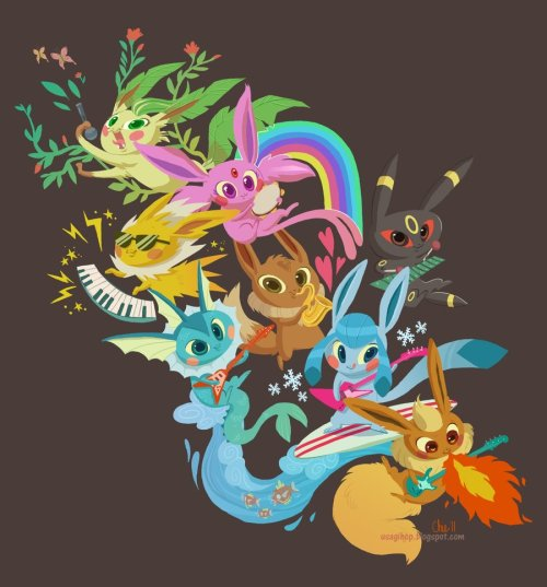chaochow:  gottacatchemall:  [Eevee Band]  This art is sex.