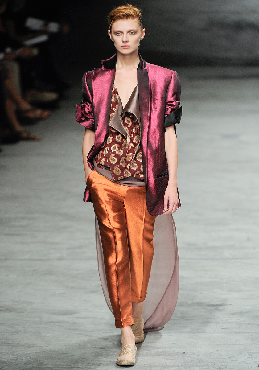 Haider Ackermann Spring 2012 Photo: Alessandro Viero/GoRunway.comVisit Vogue.com for the full collection and review.