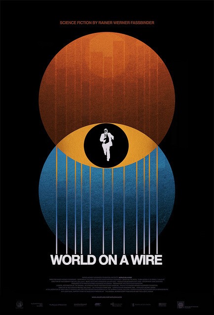 WORLD ON A WIRE / theatrical poster for Janus Films by Sam's Myth