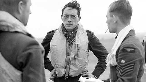 The average age of a RAF pilot in 1940 was 20. The strain they were  under is clearly written on the face of Squadron Leader B J E 'Sandy'  Lane (centre), pictured here aged 23. He was killed in combat 2 years  later. To think that men the same age as me were up in the skies pitted against the battle hardened Luftwaffe Ace's is very humbling.