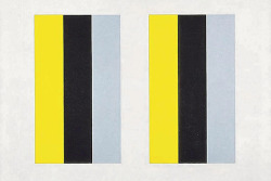 "latimes:  Open your eyes to John McLaughlin: Some of his work can be seen in ""Crosscurrents"" at the Getty, but the progenitor of great postwar art in L.A. merited a major solo retrospective. Image: John McLaughlin's ""#26"" (1961) works against our natural binocular vision. Credit: John McLaughlin"