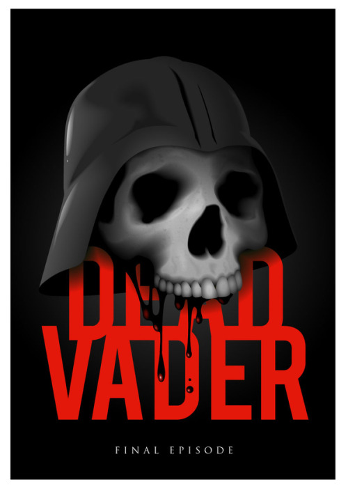 baddiogo:  tiefighters:  The Dead Vader - by Jimmie Zu  .