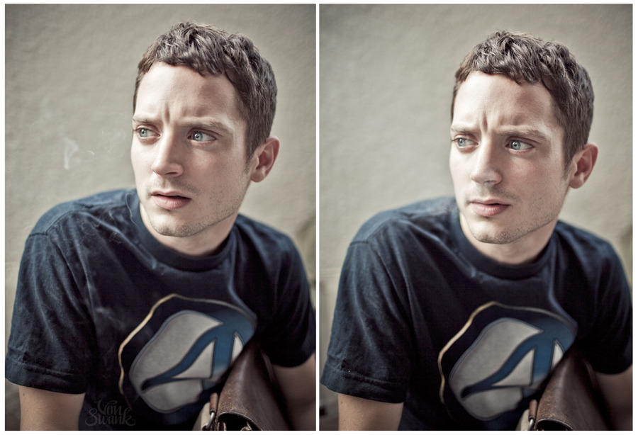 Couple more of Elijah Wood, by Robyn Von Swank.