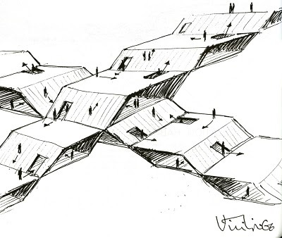 acidadebranca:  BLACK & WHITE SKETCHES | 001 | CLAUDE PARENT fabriciomora:  Claude Parent & Paul Virilio