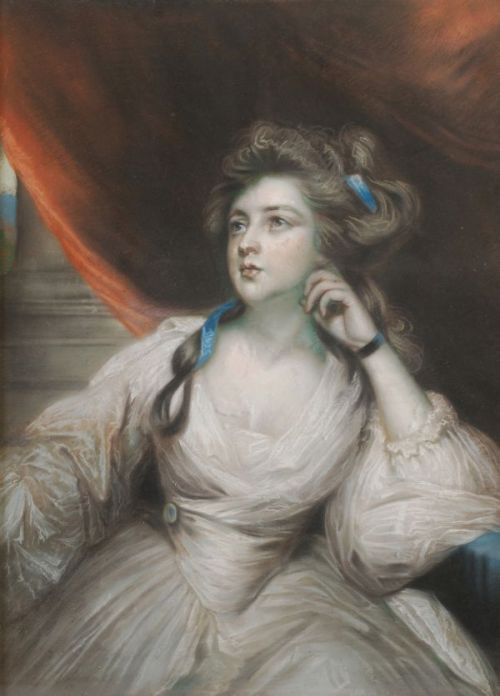 auctionguide:  English School (late 18th century) Portrait of a lady Pastel Dreweatts, Pictures from the Collection of Tony Hayes, Donnington UK, Oct 12th