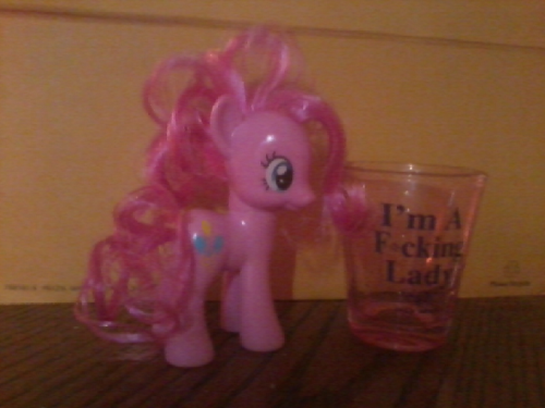 iambesthorse:  Pinkie Pie. She's a F*cking Lady.  Drinkie Pie: the best kind of pie.