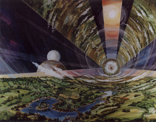 1970s NASA commissioned visions of the future / space habitation.