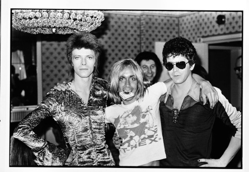 epileptic-squid:  funk-n-roll:  david bowie, iggy pop and lou reed  glorious