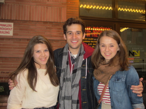 met Adam today after seeing RENT. I had such a great time! I love ACB! :') Him along with the whole cast did a great job!