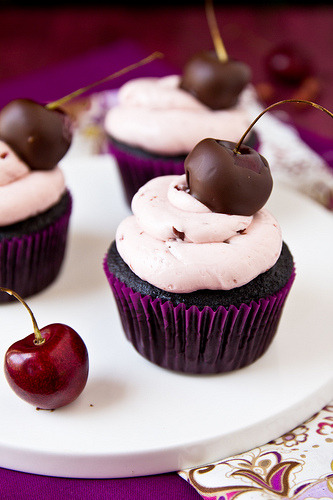 Chocolate-Covered Cherry Cupcakes