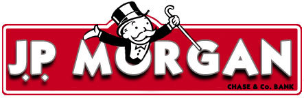"Since Rich Uncle Pennybags (""The Monopoly Guy"") is modeled after John Piermont Morgan and the company is nefarious, I made the company a new, more accurate, logo…"