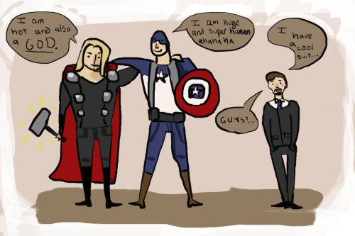 cattyforthewin:  This is what I figure will happen in the Avengers movie. NO REGRETS