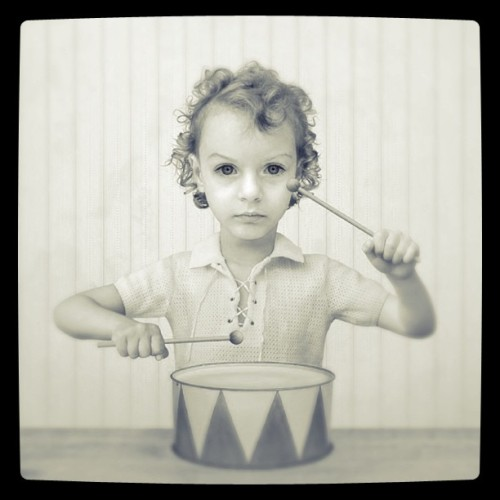 Loretta Lux - The Drummer, 2004. Modified using instagram. View original version here.