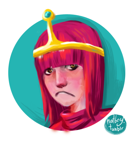 Princess Bubblegum Doodle OK. Procrastination over. And now, to woooork! I'll be back on the morrow.