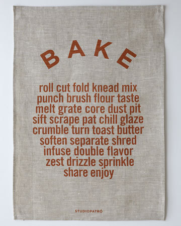 BAKE Tea Towel from Studiopatro
