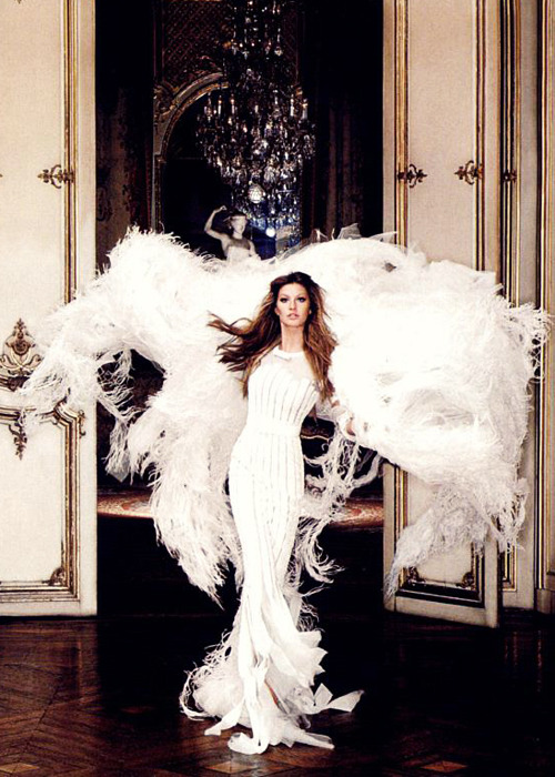 Gisele Bundchen in Chanel Haute Couture for Harper's Bazaar June 2007
