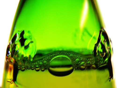 Green cider bottle by digikuva on Flickr.