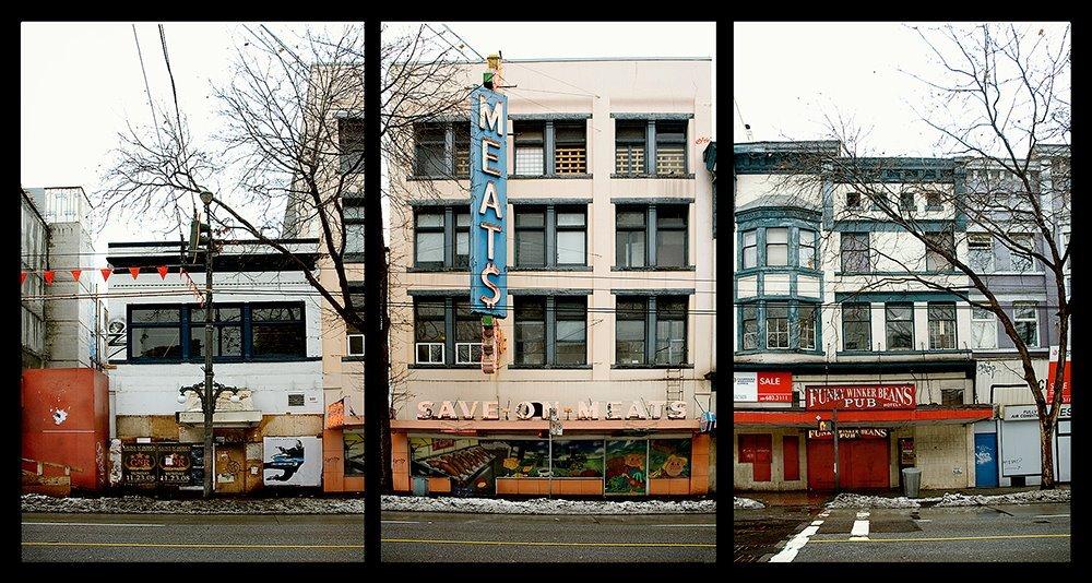 Butcher - Winter 2008  - Lee Bacchus DTES Vancouver.