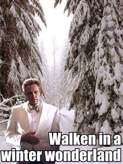 Thank you Christopher Walken.