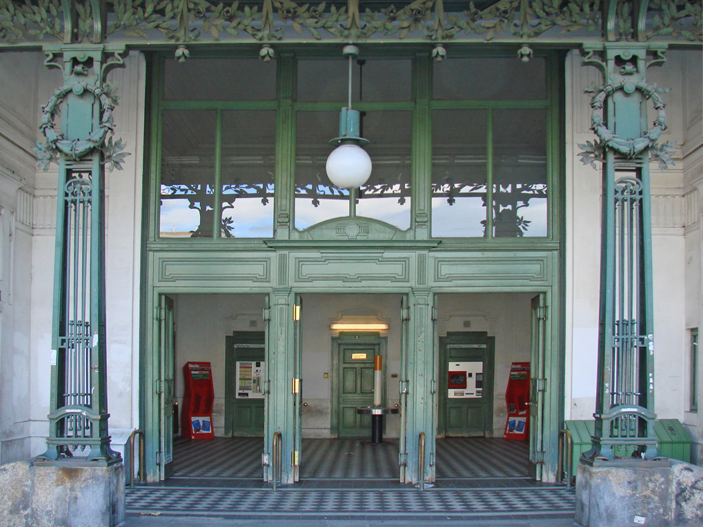 Otto Wagner metro entrance, Vienna. Photo by dalbera on Flickr.