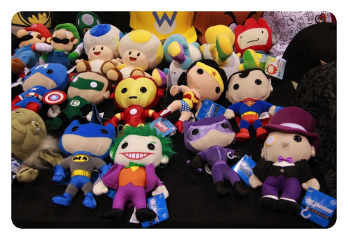 torontojack:  DC superhero mini plushies.