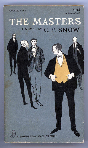 iconoclassic: The Masters, a novel by C. P. Snow, cover illustrated by Edward Gorey. This edition 1951 (by Studio Reb)