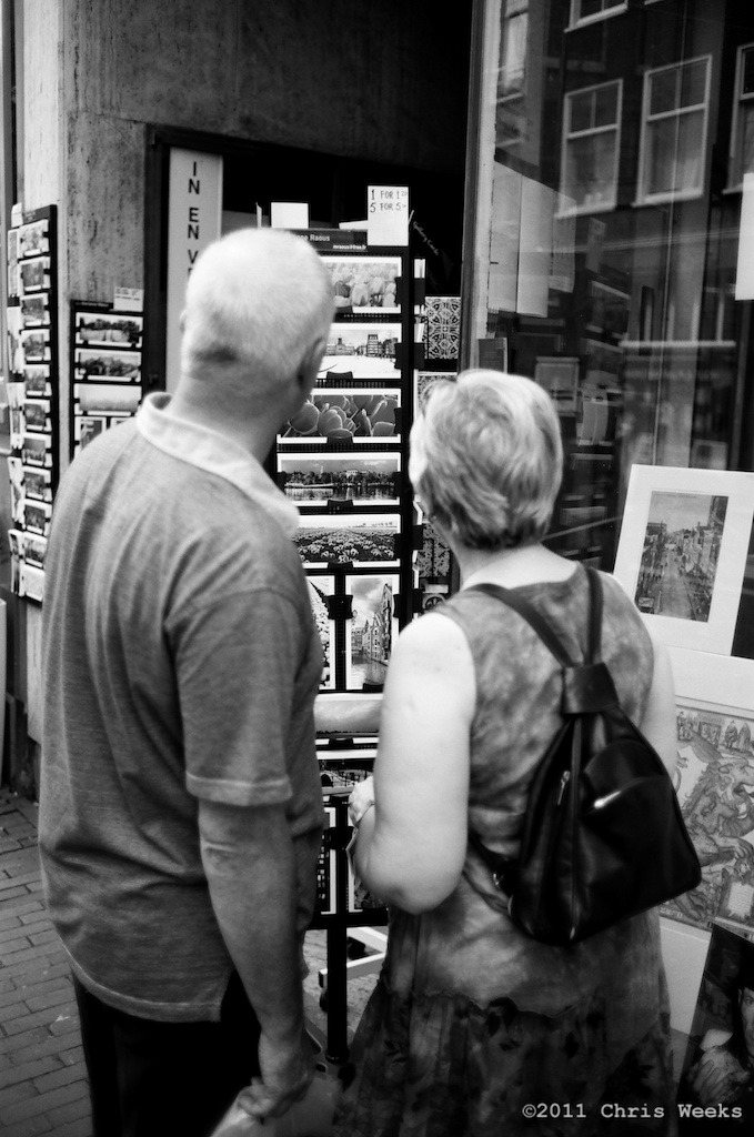 Amsterdam, Holland:  July, 2011.   Let's go with the tulip one.  Leica MP.  35 'lux.  Lab scan »> Aperture.  (Tri-X during the night and Agfa APX 25 with ND during the day but not exact)
