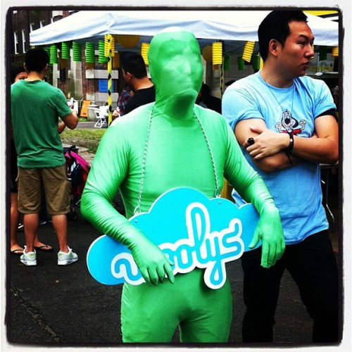 Woolys' green man. Its a flavor. #vendys #governorsisland (Taken with instagram)