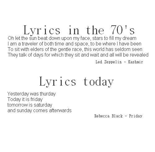 themusicpimp:  drfeelgood1990:  The Awful Truth  Las letras de antes…y las letras de las canciones de ahora. :(